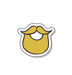 Beard doodle icon vector