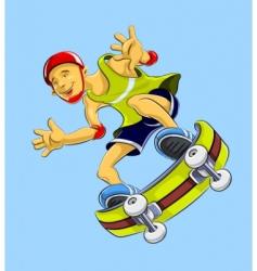 cartoon skateboarder vector image vector image
