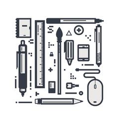 Design line items vector image