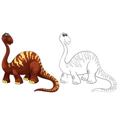 doodle animal for brachiosaurus vector image