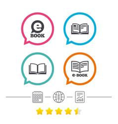 Electronic book signs e-book symbols vector