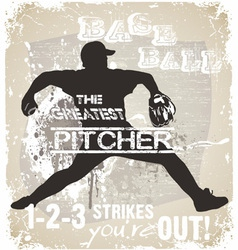 great pitcher vector image vector image