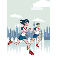 London Runners vector image vector image