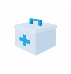 Medicine chest with blue cross icon cartoon style vector image