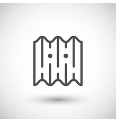 Asbestos roof tile line icon vector image