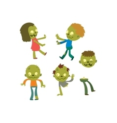 Cartoon zombie character isolated vector image