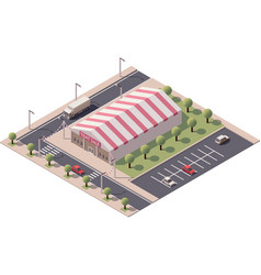 isometric sale tent store vector image