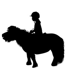 kid riding a pony vector image