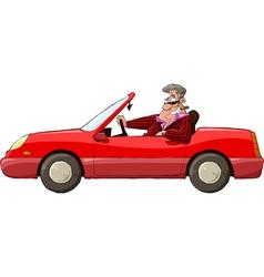 Man in a car vector image vector image