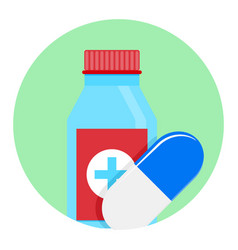 Medicine icon app vector