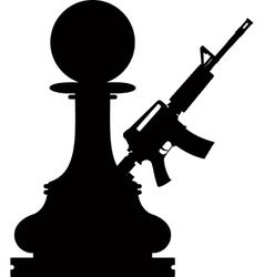 Pawn assault gun vector image