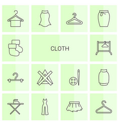 14 cloth icons vector