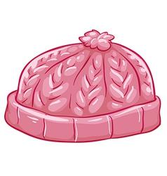 A pink bonnet vector