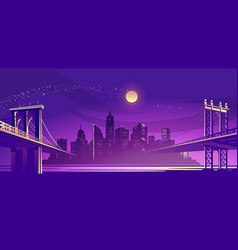 abstract night city vector image