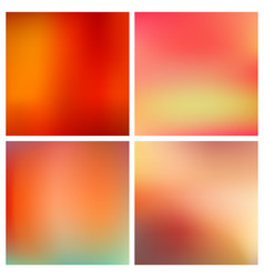 abstract red blurred background set 4 vector image