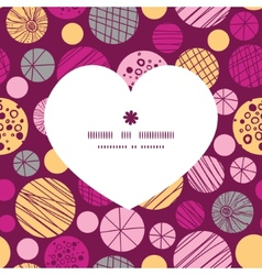 abstract textured bubbles heart silhouette pattern vector image