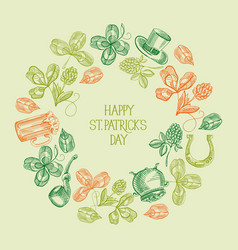 Abstract vintage st patricks day background vector