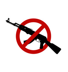 Assault rifle silhouette sign vector