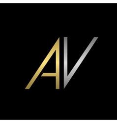 Av letters logo vector