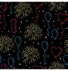Balloons seamless pattern vector