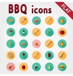 BBQ Icon set vector image