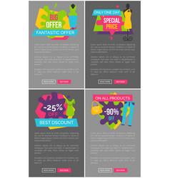 Big fantastic offer special price promotion poster vector