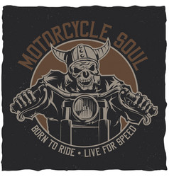 Biker t-shirt label design vector