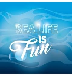Blue background icon Sea life design vector