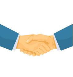 Business handshaking vector