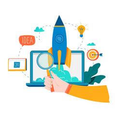 Business project startup process startup idea lau vector