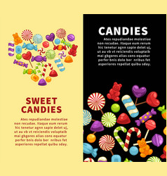 Candies sweets and confectionery candy shop vector