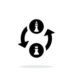 Castling simple icon on white background vector image