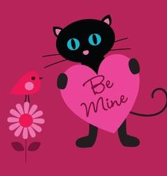 Cat valentine vector