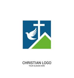 Church lord and savior jesus christ vector
