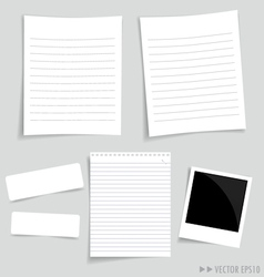 Collection white papers vector image