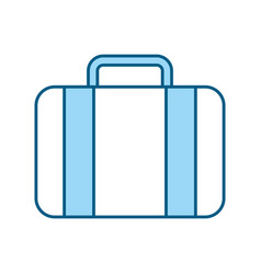 Color blue suitcase cartoon vector