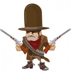 Cowboy gunman vector