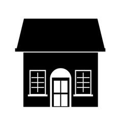 Cute house exterior icon vector