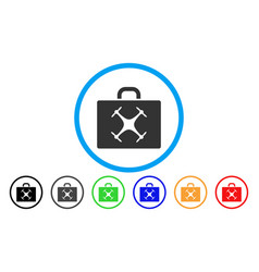 Drone case rounded icon vector