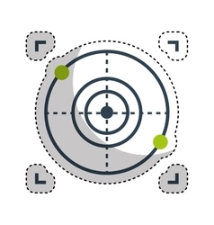 Drone target isolated icon vector