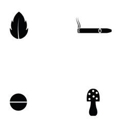 drug icon set vector image