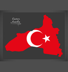 Eastern anatolia turkey map vector