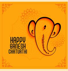 Elegant lord ganesha festival background in vector