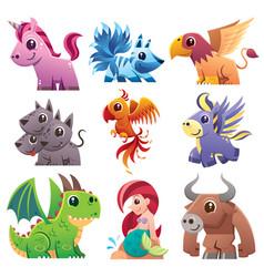 fantastic animals vector image