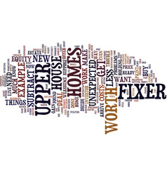 Fixer upper homes are you ready text background vector