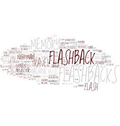 Flat word cloud concept vector