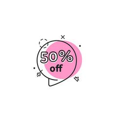 geometric bubbles promo banner vector image