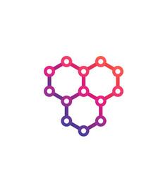 Graphene atomic carbon structure logo vector