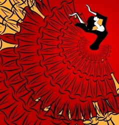 Image of abstract dancer vector