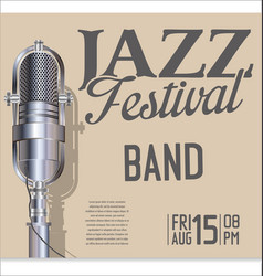 jazz festival background 4 vector image